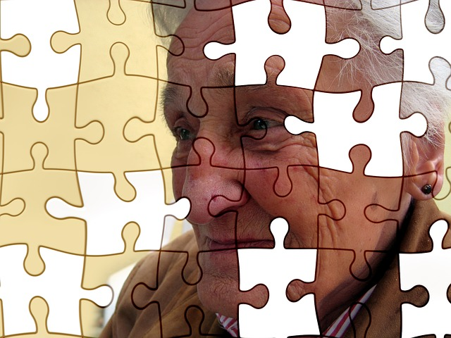 woman with dementia/missing puzzle pieces