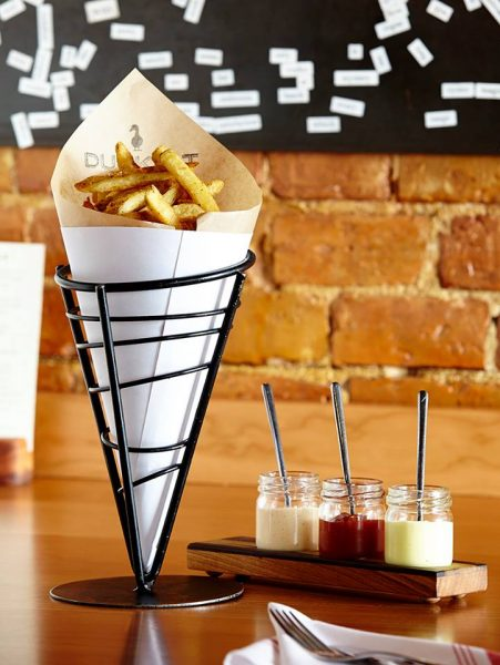 Hand-cut Belgian fries from Duckfat