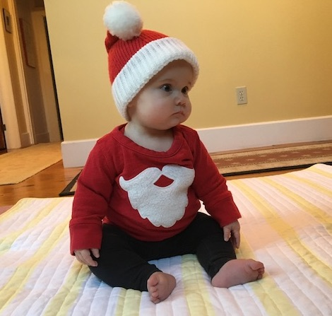 Baby granddaughter has a cold for Christmas