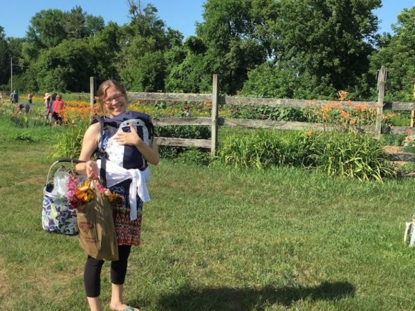 Stephanie and Coraline at the farm