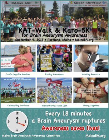 KAT-Walk & Karo-5K for Brain Aneurysm Awareness @ Back Cove Boulevard | Portland | Maine | United States