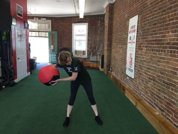 Scoop toss/fitness