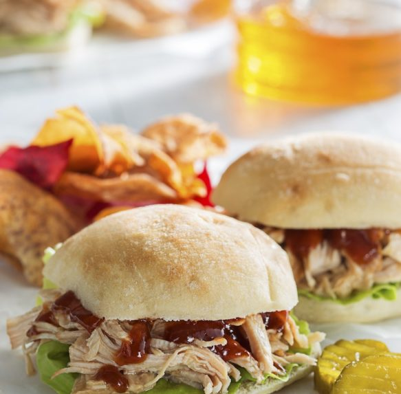 Shredded Honey Turkey Sliders