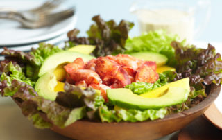 Lobster, avocado and mango salad