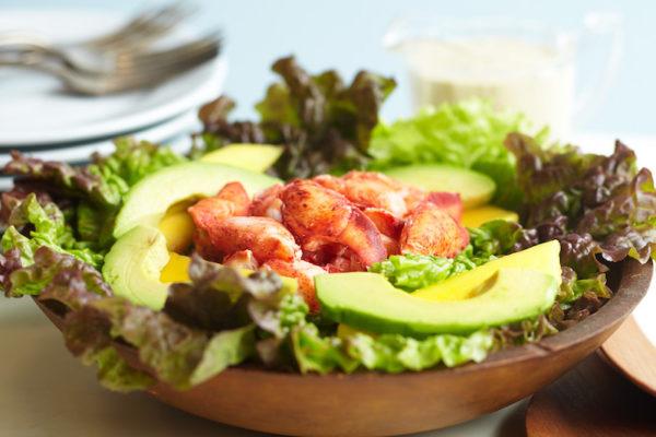 Lobster, avocado and mango salad