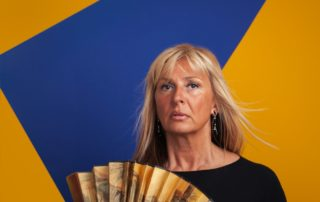 Woman in menopause having a hot flash