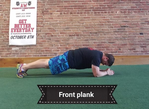 Andy Wight doing a plank