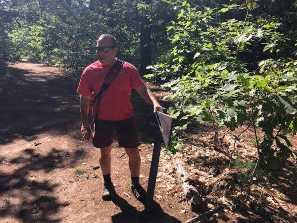 Phil Arena, leading Happy Healthy Gorham hike