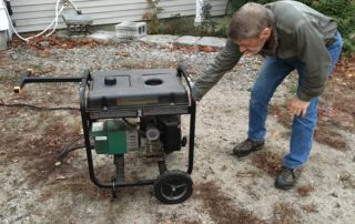 Turning on the generator