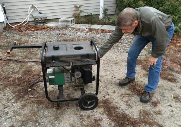 Turning on the generator