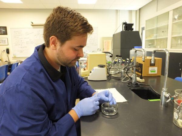 Science lab St. Joseph's College, tick research