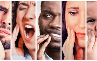 Group of people with tooth ache/root canal