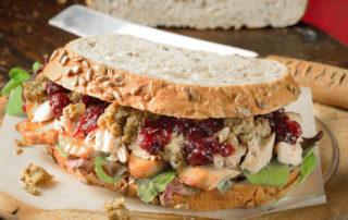 Turkey leftovers sandwich