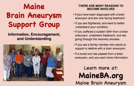 Maine Brain Aneurysm Support Group @ Dana Health Ctr., Maine Medical Center | Portland | Maine | United States