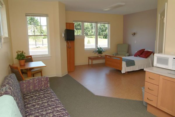 Room at Gosnell Memorial Hospice House