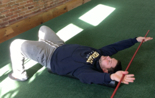 Andy Wight demonstrates kinky back exercise