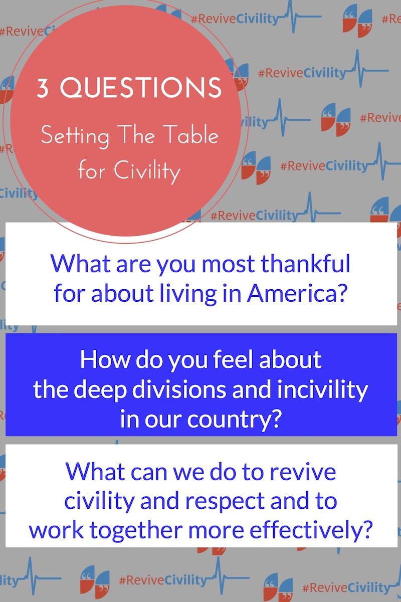 Revive Civility Questions