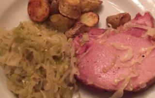 Meal with homemade sauerkraut