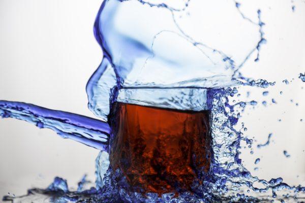 Glass of soda/salt