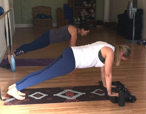 Mat exercises at Magnolia Barre