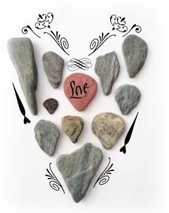 Love letter rocks