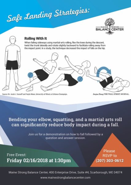 Maine Strong Balance Center poster/Falling strategies