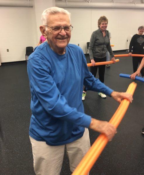 Frank Carroll exercising