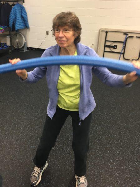 Roberta Libby exercising