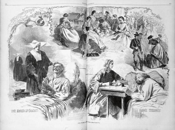 Magazine Cover of Civil War nurse