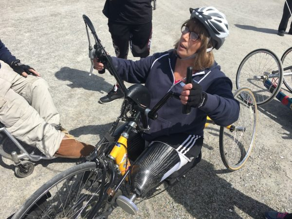 Terri Anthoine on adaptive bike