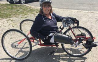Terri Anthoine on adaptive bike