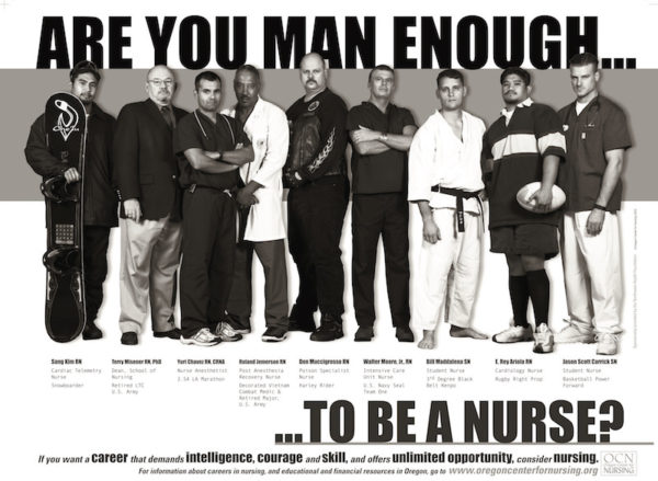 Are you man enough to be a nurse poster