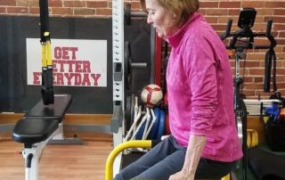 Diane working out