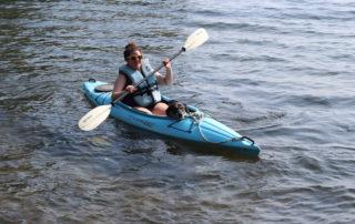 Woman in kayak