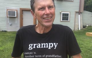George Smith in is Grampy t-shirt