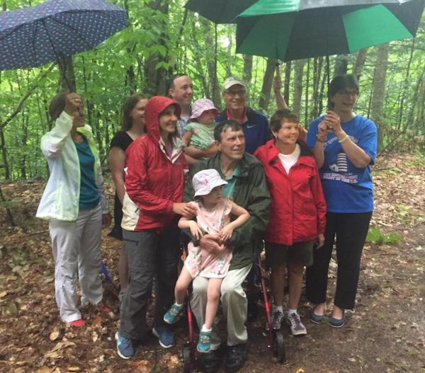 George Smith and family at Woodlot dedication