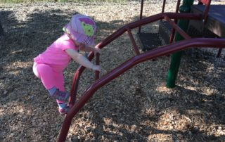 Diane's granddaughter at the playground