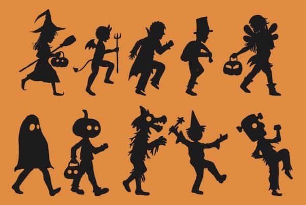 Halloween kids illustration