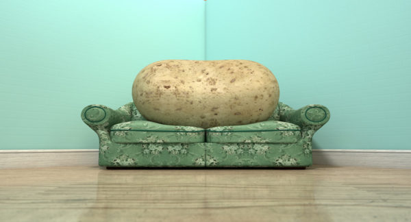 Large potato on a couch