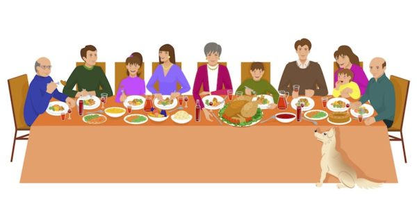 People at Thanksgiving table