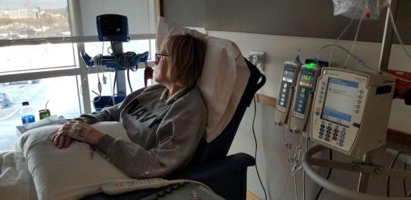 Dawn getting an infusion for LEMS/autoimmune disease