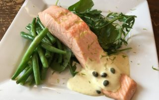 Poached salmon/Annie Mahle