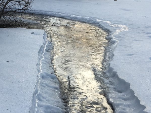 An icy path