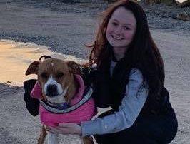 Martina Baker and service dog Keeva