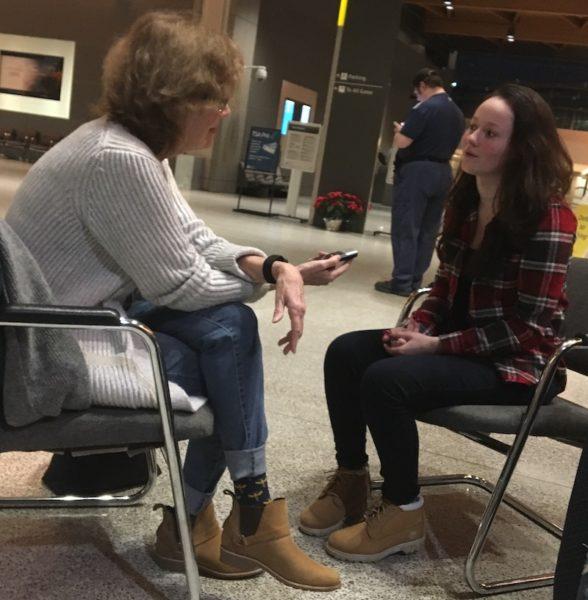 Diane interviewing Martina Baker/MCAS