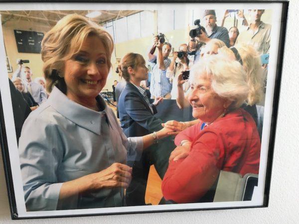 Leona with Hillary Clinton