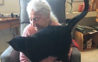 Leona with her cat