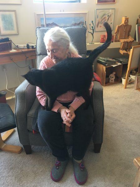 Leona and her cat