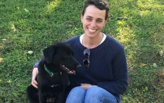 Kate and her dog/in remission from cancer