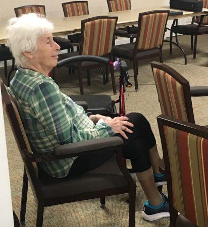 Greta Rothman listening to The FLUKES